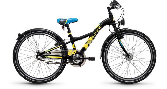 s'cool XXlite 24 3-S - Vélo enfant - steel noir
